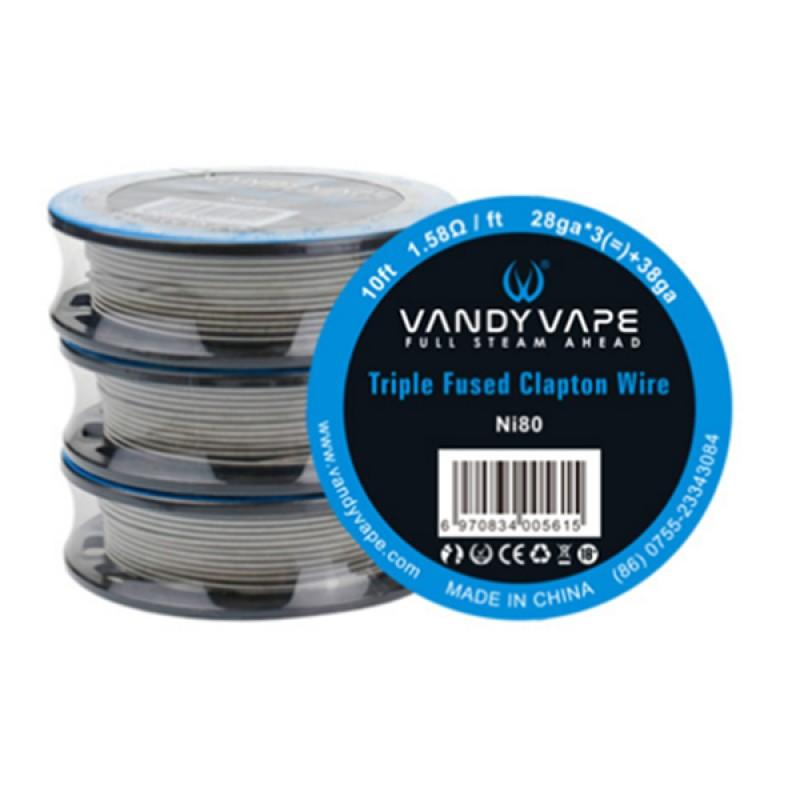 10FT Vandy Vape Triple Fused Clapton Wire